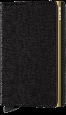 Secrid Slimwallet in Crisple Black-Gold