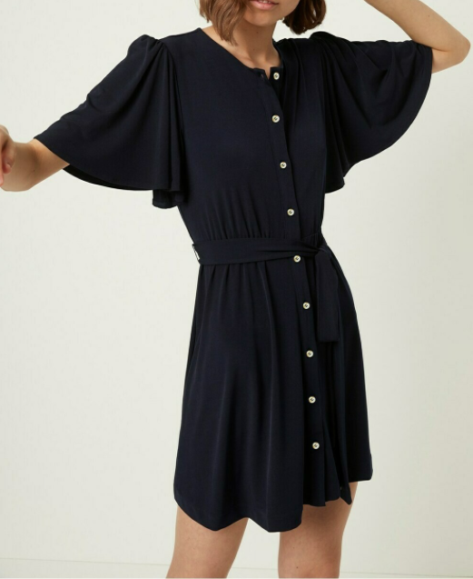 French Connection Serafina Dress in Black
