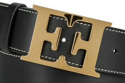Escada  Leather Monogram Belt