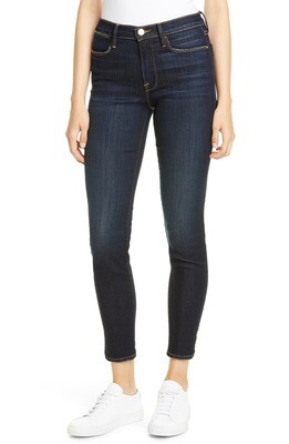 Frame Le High Skinny Outseam Slit in Copa