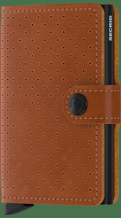 Secrid Miniwallet in Perforated Cognac