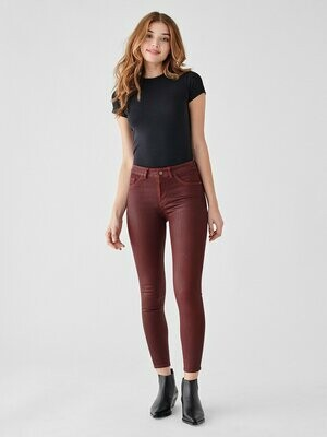 DL 1961 Florence Mid-Rise Skinny Jean in Merlot