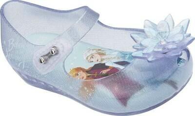 Mini Melissa Mini Ultragirl Frozen Flat,Glass Glitter Blue