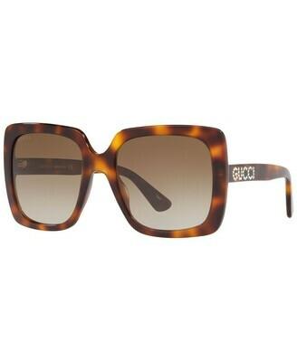 Gucci Opulent Luxury Acetate Sunglasses In Havana/Brown