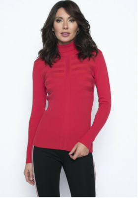 Frank Lyman Long Sleeve Turtleneck Sweater in Tomato