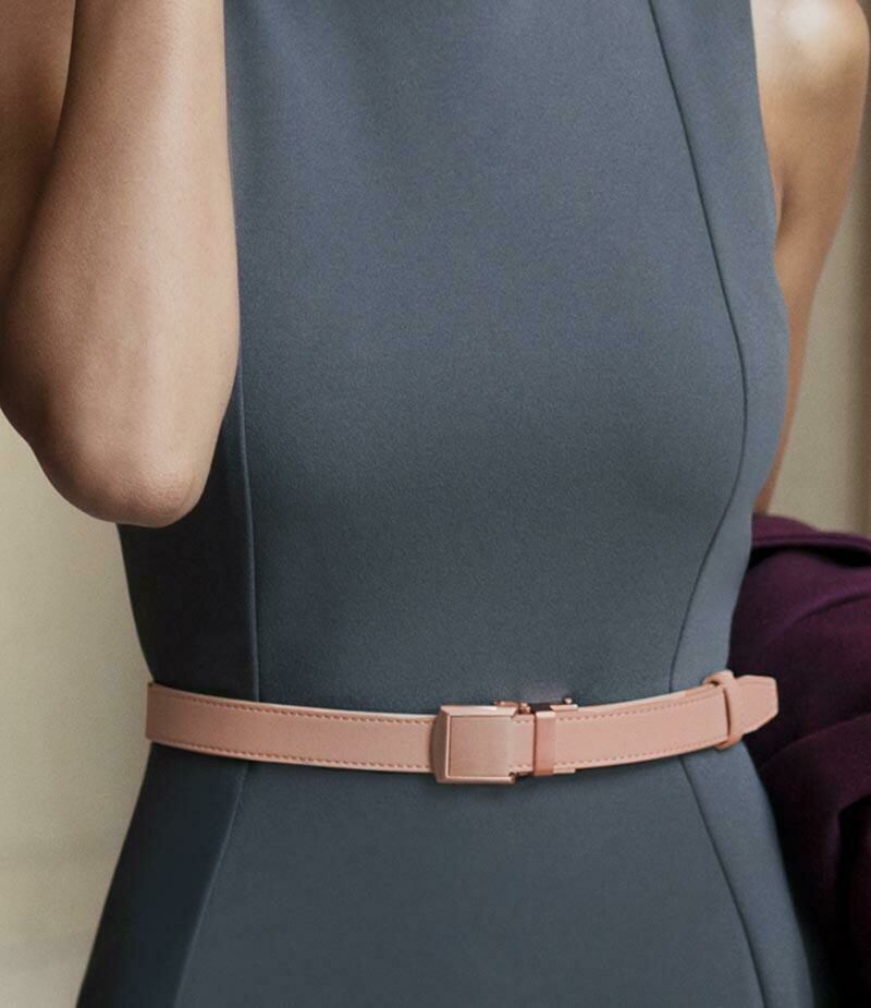Slide Belt Skinny in Blush