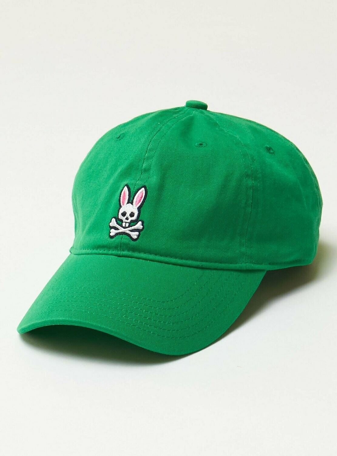Psycho Bunny Mens Core Sunbleached Baseball Cap - Green