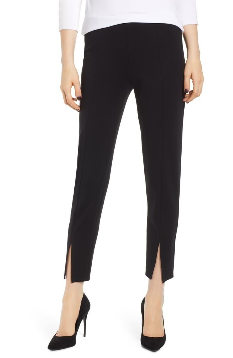 Bailey 44 Pipe Dream Split Ponte Pants in Black