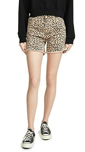 DL 1961 Hepburn Shorts High Rise Wide Leg Shorts in Catwalk