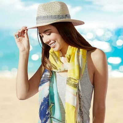 Jackie Z Straw Carson Panama Hat