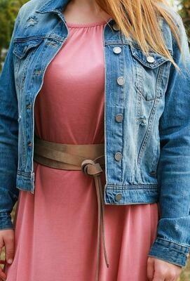 Ada Midi Belt in Rose Shimmer