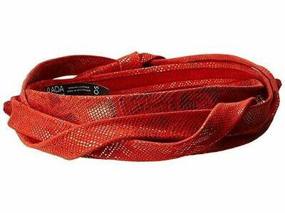 Ada Midi Belt in Red Snake