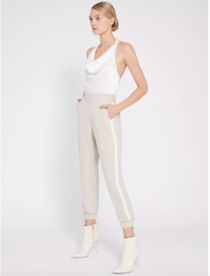 Alice & Olivia Pete Jogger Pant in Taupe