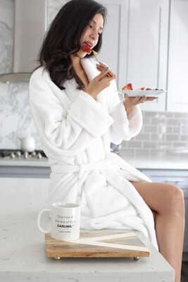 LA Trading Co LUXE PLUSH ROBE - Dreaming Of Chanel