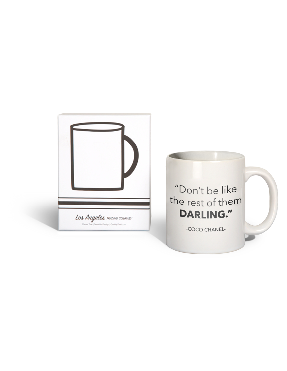 LA Trading Co Mug- 15 oz. Don't Be Like The Rest Darling - Coco Chanel