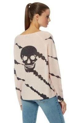 360 Cashmere Mel Skull Sweater