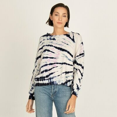 Monrow Bamboo Burst Tie Dye Boxy Sweatshirt