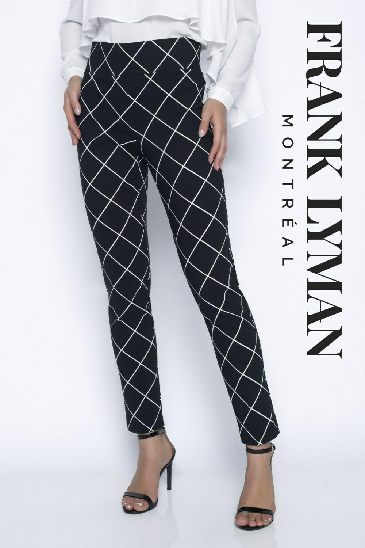 Frank Lyman Black and White Woven Pants