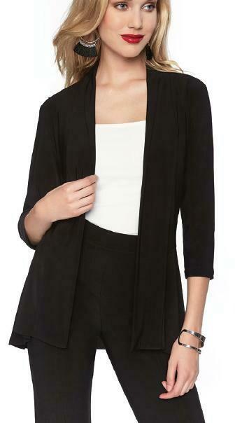 Frank Lyman Knit Jacket In Black