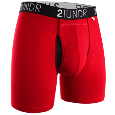 2UNDR SWing Shift - 6IN BOXER BRIEF in Red/Black