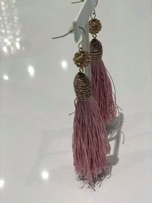 Jackie Z Tassel Earrings In Pink