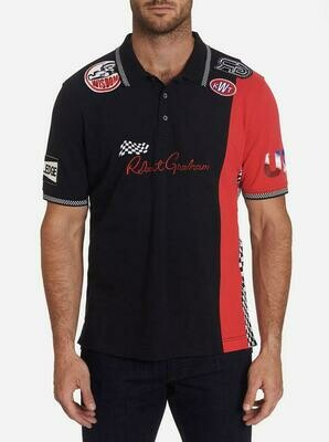 Robert Graham Motor Sport Polo in Red, White and Black