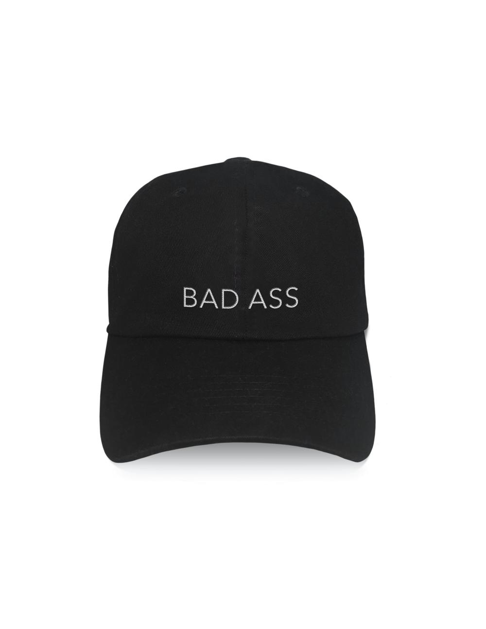 LA Trading Company Bad Ass Black Baseball Hat