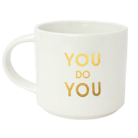 Chez Gagne' You Do You Metallic Gold Mug