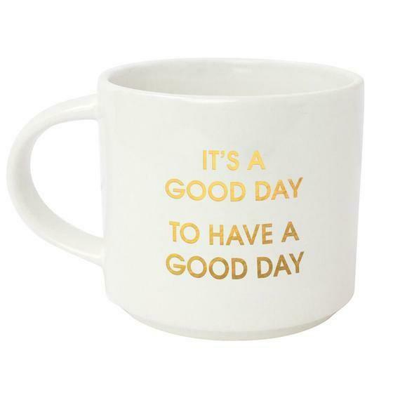 Chez Gagne' It's a Good Day Gold Metallic Mug