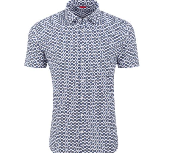 Stone Rose Blue Records Performance Knit Short Sleeve Shirt