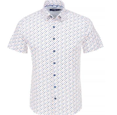 Stone Rose White Circle Knit Short Sleeve Shirt