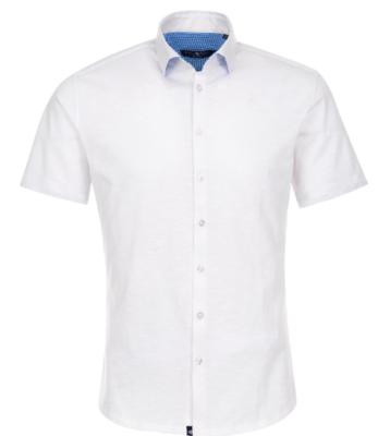 Stone Rose White Flame Knit Short Sleeve Shirt