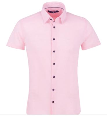 Stone Rose Light Pink Pique Knit Short Sleeve Shirt