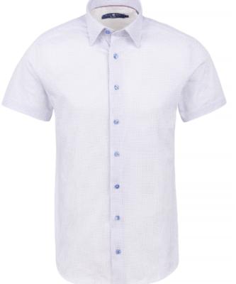 Stone Rose Pink Geometric Print Knit Short Sleeve Shirt