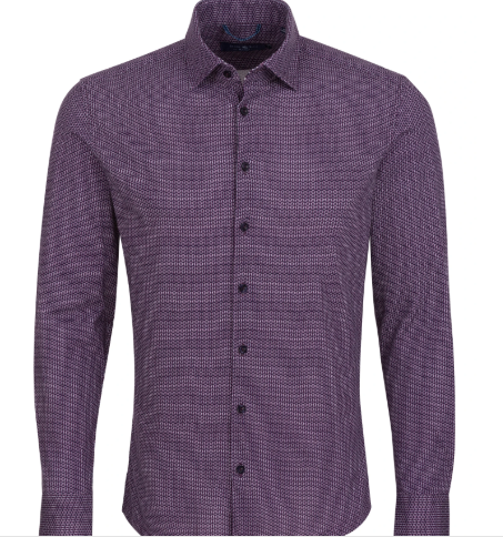 Stone Rose Purple Geometric Knit Long Sleeve Shirt