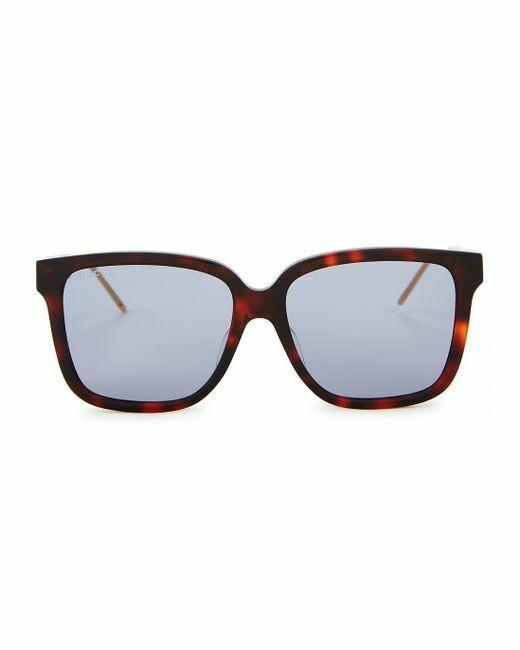 Gucci Havana Sunglasses With Blue Lens