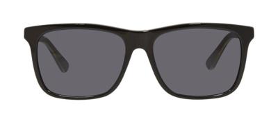 Gucci Black Full Rim Men's Sunglasses With Grey Lens