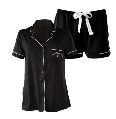 LA Trading Company J'Adore Chanel Short Set In Black