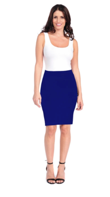Tees By Tina Textured Skirt in Royal Purple