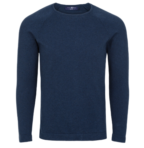 Stone Rose Navy Heather Knit Sweater