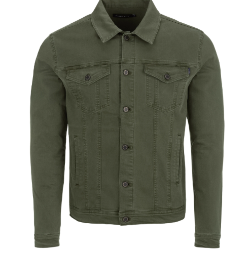 Stone Rose Olive Trucker Jacket
