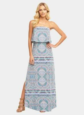 Tart Collections Aeryn Maxi Dress in Sunset Tiles