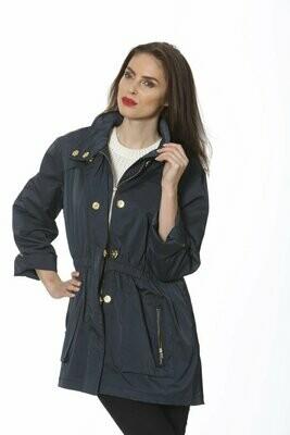 Ciao Milano Rain Coat in Navy