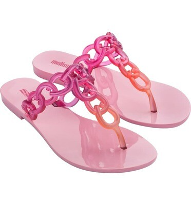 Melissa Big Chain AD Flip Flop in Lilac Pink