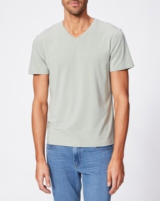 Paige Grayson V Neck Tee Shirt in Seagrass