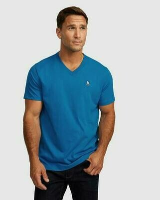 Psycho Bunny Mens Classic V Neck Tee In Mineral
