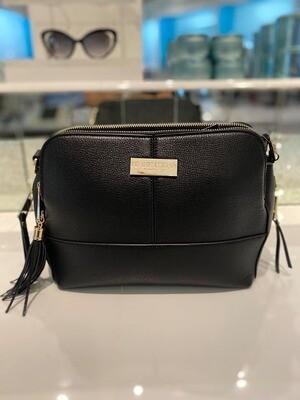 Frank Lyman Handbag In Black And Gold