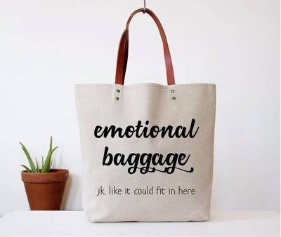 Fun Club Emotional Baggage Tote In Beige