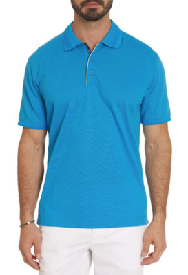 Robert Graham Champion Performance Polo Shirt in Blue