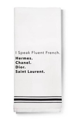 LA Trading Company I Speak Fluent French Dish Towel